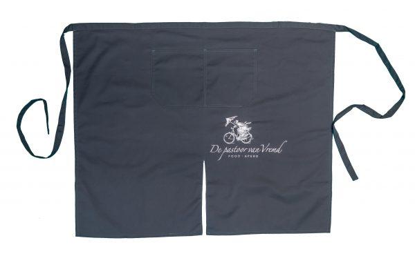 sloof met split en zak donkergrijs